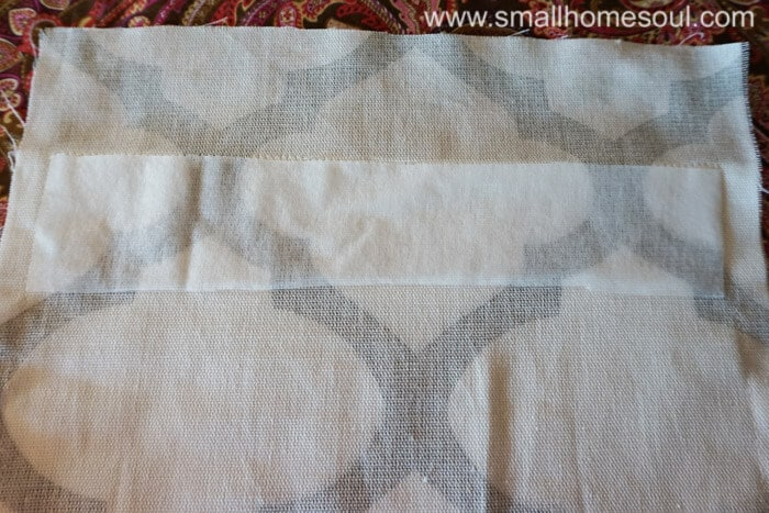 Simple french door curtains get interfacing in the hem.