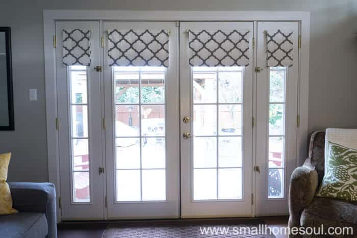 French Door Curtains open