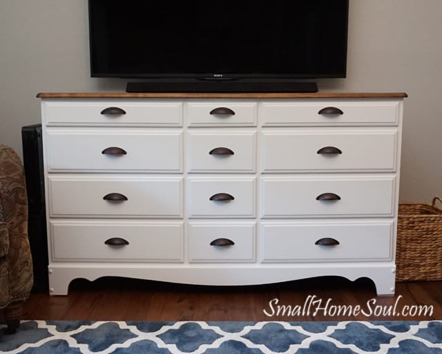 How to Make a TV Console from a Dresser