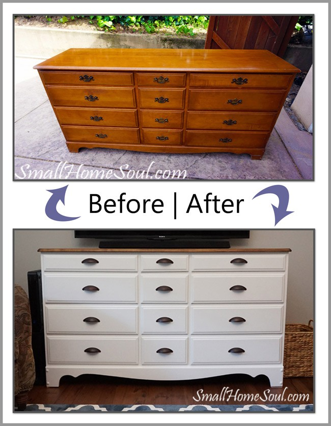 Make a TV Console from an Old Dresser