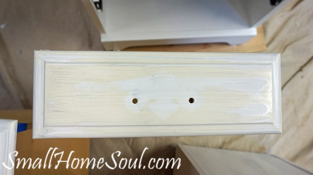 nicotine bleeding through primer on dresser drawer.