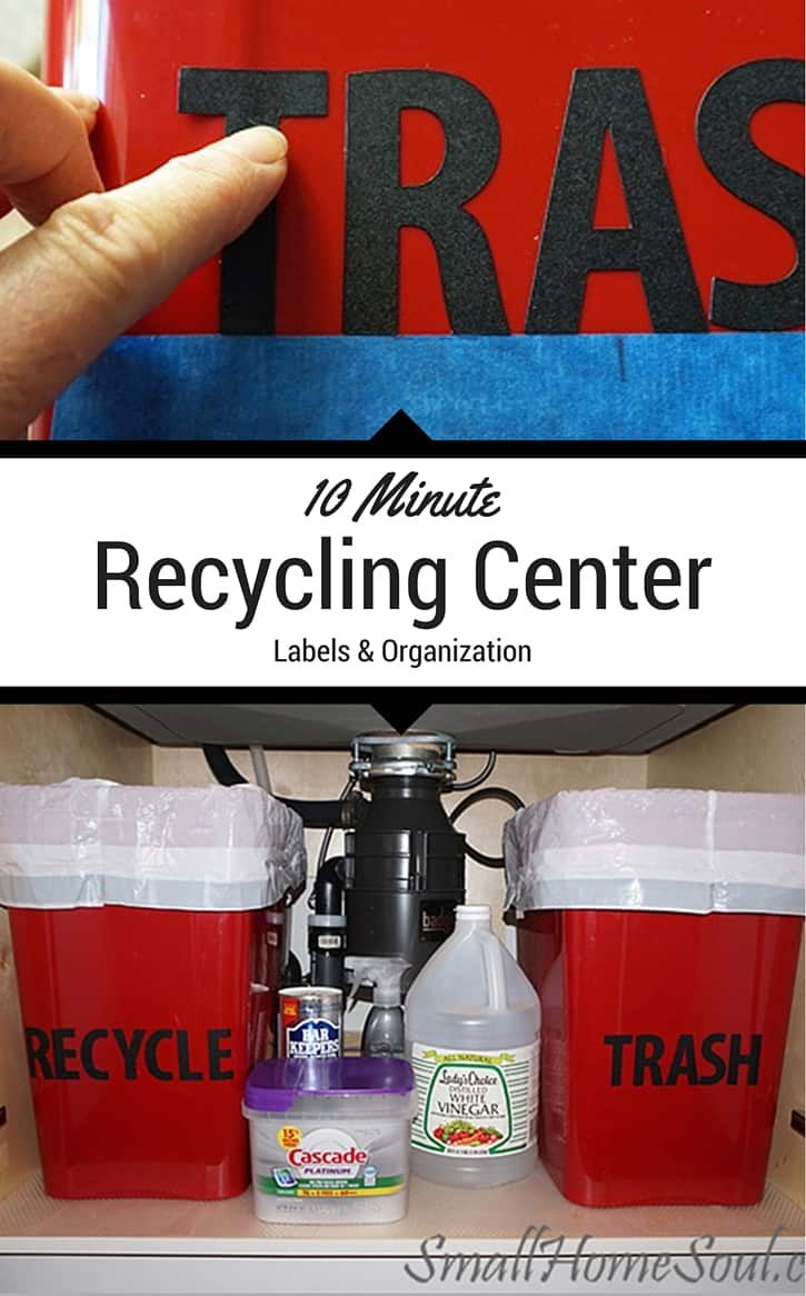 Create a New Kitchen Recycling Center in 10 Minutes - Girl ...