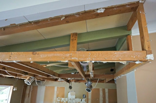 Preparing to remove drop ceiling for kitchen reno.