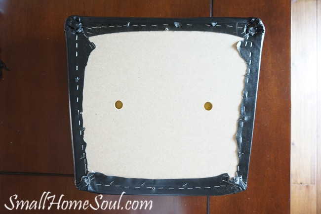 Reupholster your own dining chairs and save over $200 with this tutorial from www.smallhomesoul.com