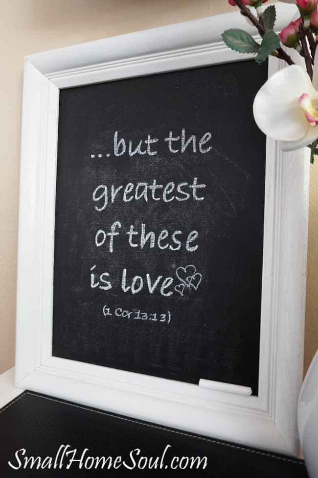 Easy DIY Chalkboard from a Picture Frame