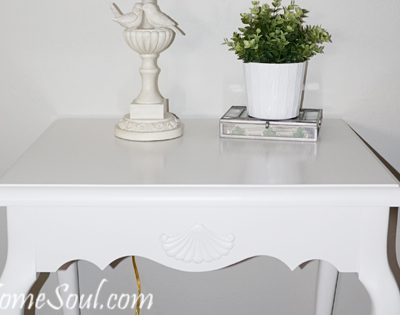 Thrifted French End Table Makeover