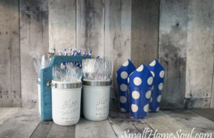 Mason Jar Utensil Caddy Tutorial