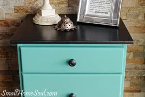 Update an Old Nightstand with Yummy Metallic Cream