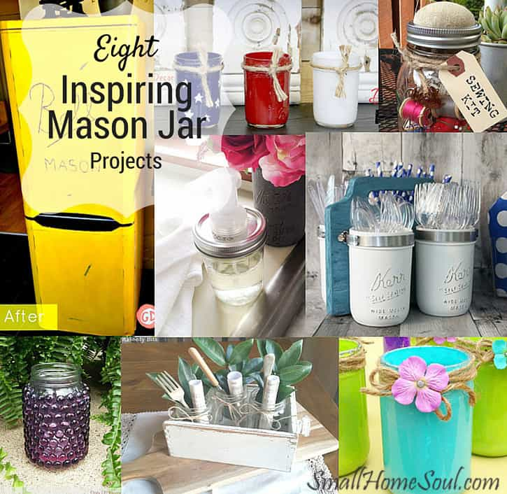 Here are just a few inspiring mason jar projects to get your inspirational and creative juices flowing.