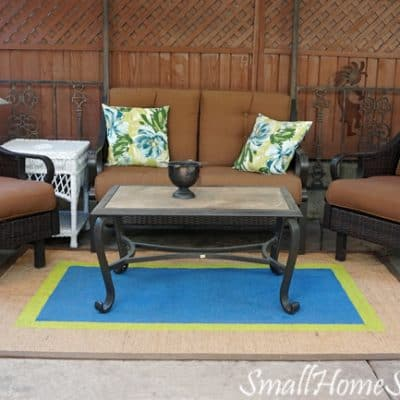 Painted Seagrass Rug – My Patio Refresh Part 1