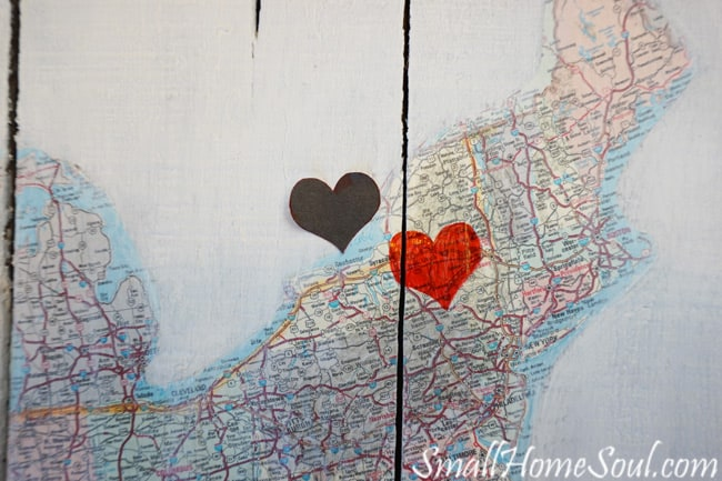 Diy Map Art A Journey Of Love Small Home Soul