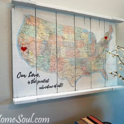 DIY Map Art – a Journey of Love