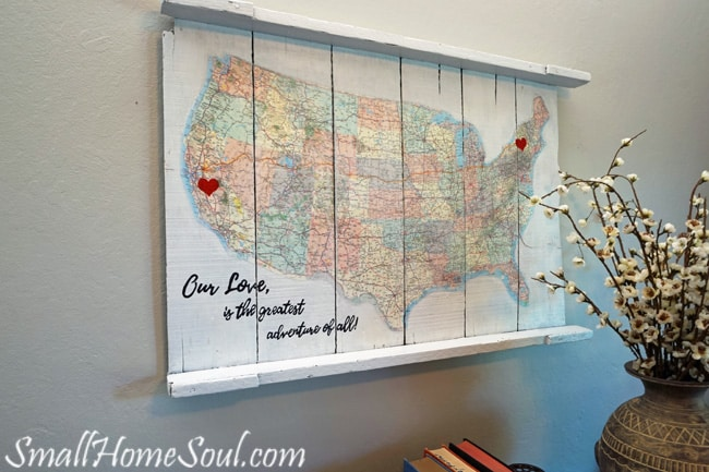 Map Wall Decor Diy: A Journey Of Love
