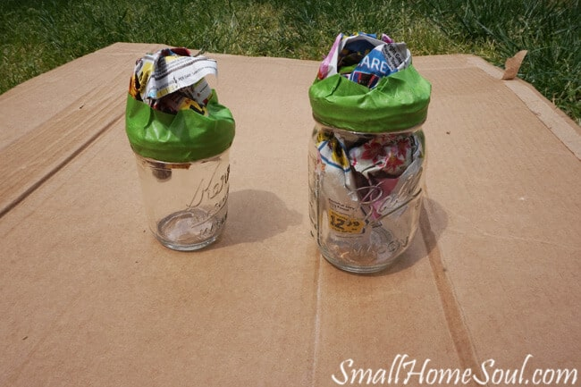 easy DIY Mason Jar Pencil Holders