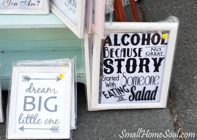 Antique Fair Signs