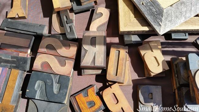 Antique Fair Typesetter Letters