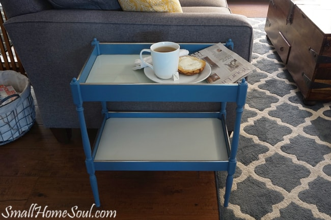 Chalky Paint Side Table Makeover Small Home Soul