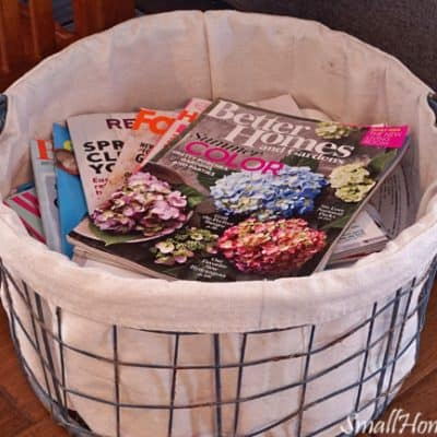 DIY Drop Cloth Basket Liner without a Pattern