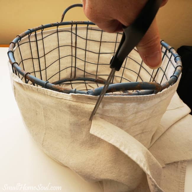 Make Your Own Drop Cloth Basket Liner, Without A Pattern, Using The Steps In