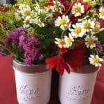 Mason Jar Flower Caddy