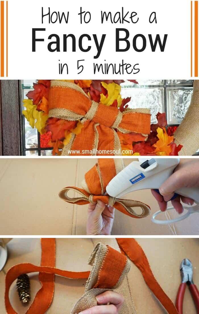 Five Minute Fancy Bow Pinterest image