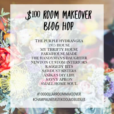 My $100 Room Master Bathroom Makeover Blog Hop graphic.
