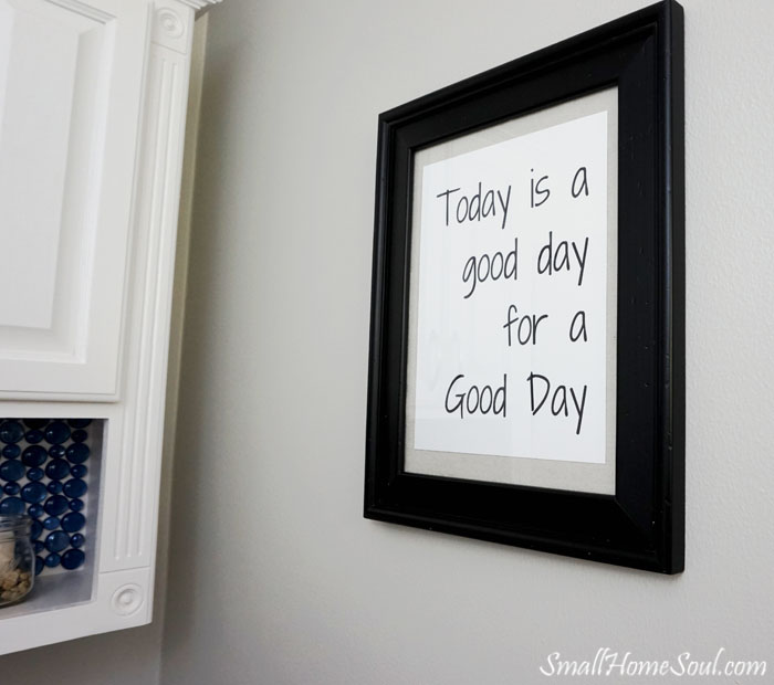 Every beautiful master bathroom makeover needs some great art!