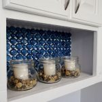 Dollar Store Glass Backsplash Tutorial