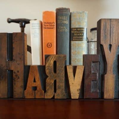 Use Vintage Letterpress Blocks for Personalized Decor