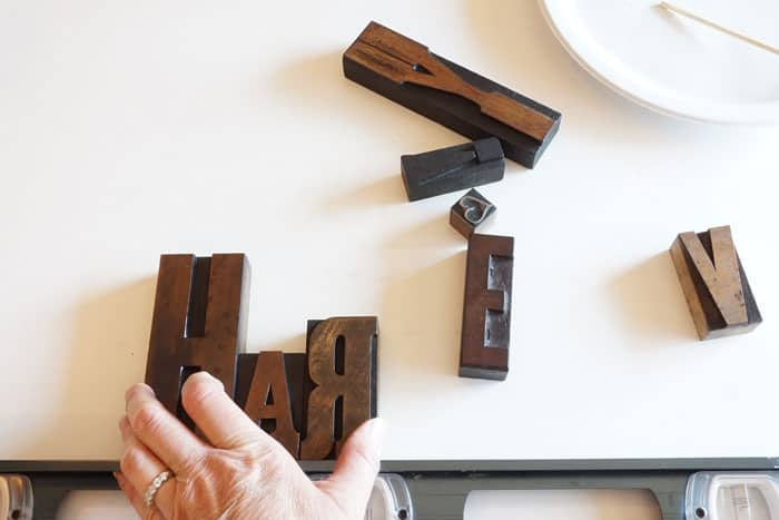 I love these vintage letterpress blocks made into this personalized sign to display in your house. Brilliant!