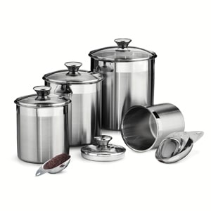 Stainless Steel Canisters for the Bakers gift guide