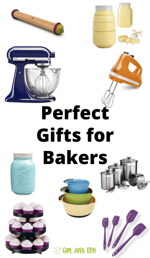 Colorful Collage of kitchen items in Baker's Gift Guide.