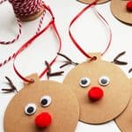 Rudolph Gift Tags – Easy Christmas Craft