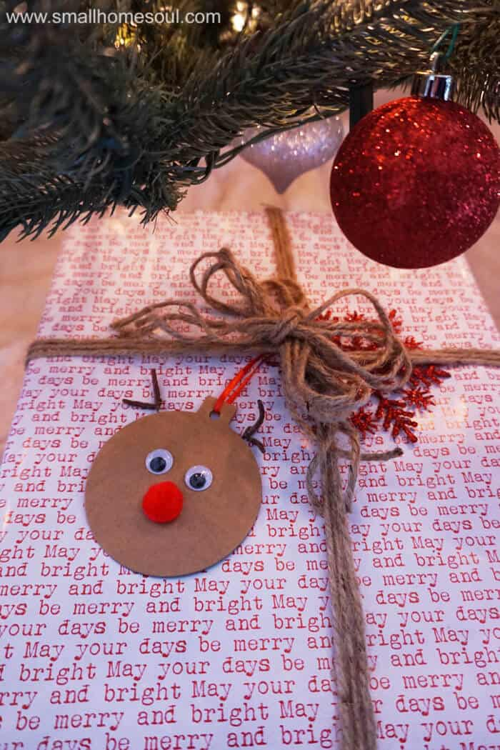 Easy Crafts For Christmas Gifts Part - 49: These Rudolph Gift Tags Are A Fun And Easy Project To Make Your Gift  Wrapping Extra