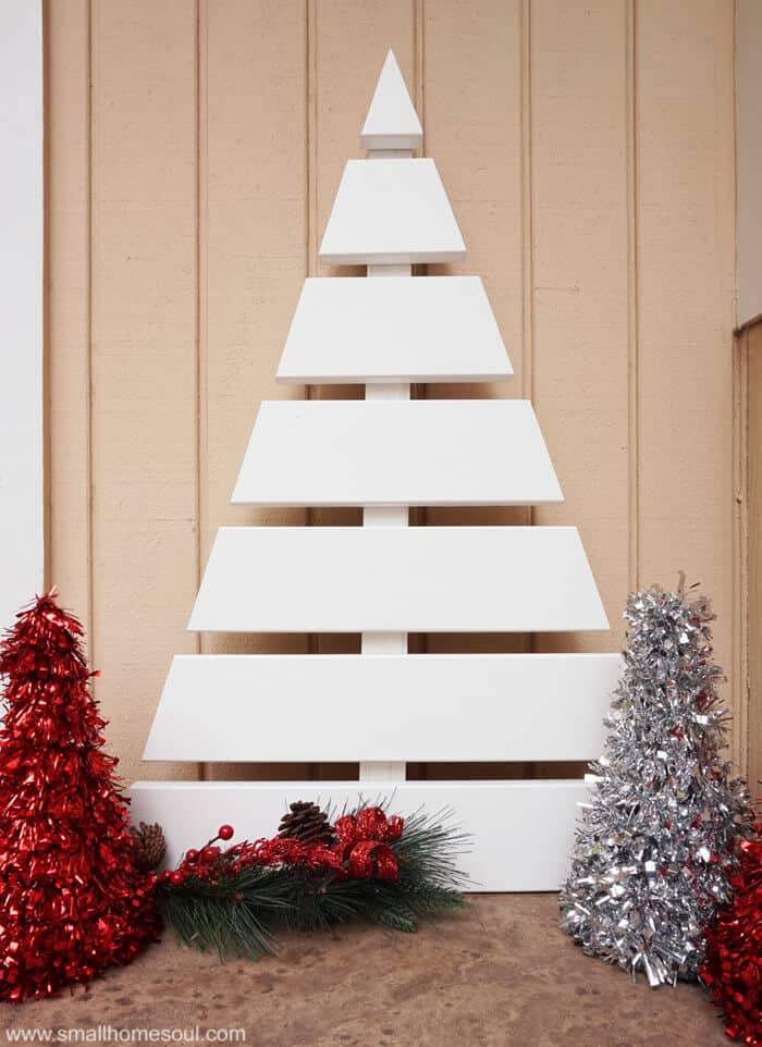 Wooden christmas tree a fun diy project small home soul Christmas trees made out of wood