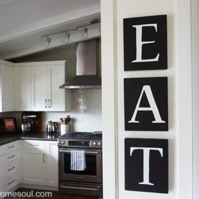 DIY Kitchen Art with Chalkboard Paint & Free Printable