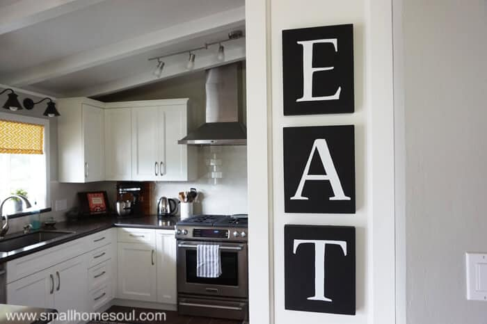 This DIY Kitchen Art is easy to make with transfer paper and paint markers.