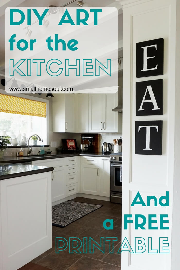 Ordinaire This DIY Kitchen Art Is Easy To Make With Transfer Paper And Paint Markers.