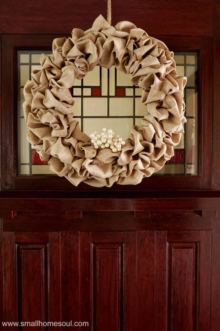 Having a seasonal wreath makes it easy to create and craft a new wreath for every holiday without storing them all.