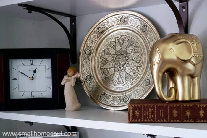 Polished brass from tarnished junk is a quick trash to treasure decor item.