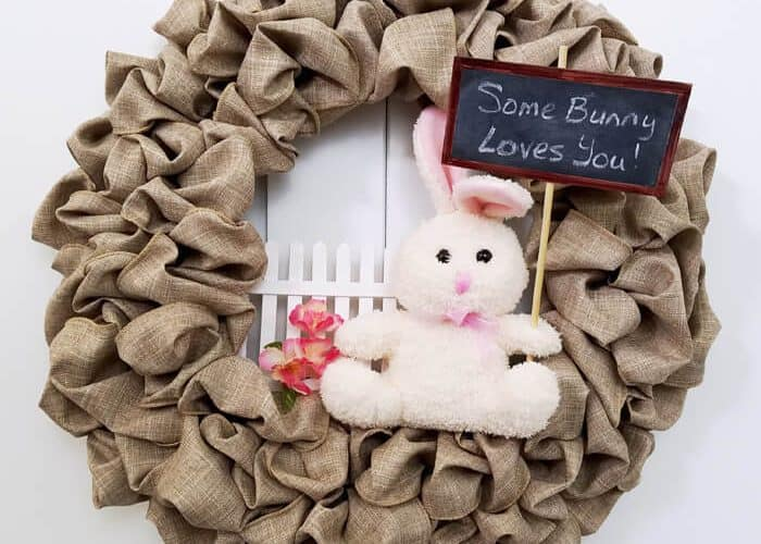 Easter Bunny Wreath – Easy Update to a Seasonal Wreath