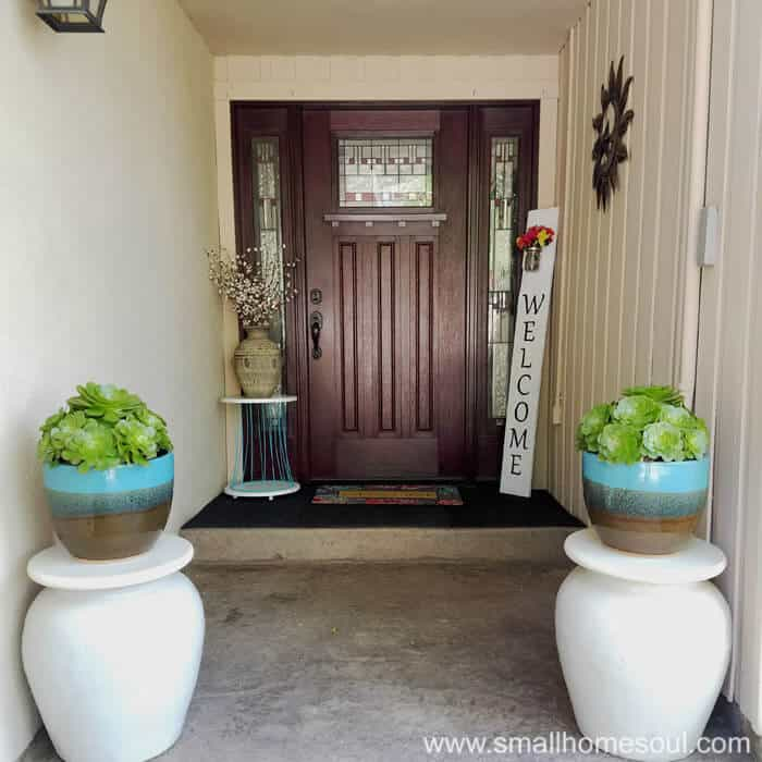 Easy Front Porch Makeover A 100 Challenge Girl Just Diy