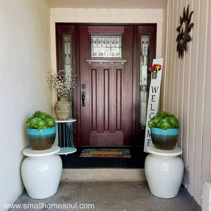 Easy front porch makeover anyone can do and create a welcoming spot for friends and family.
