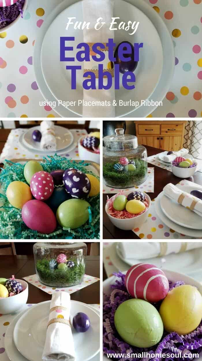 Compilation of pictures for Easter table decorations.
