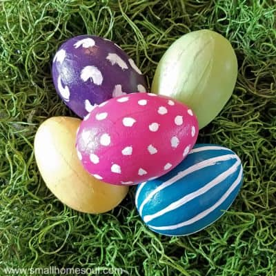 Easy Painted Easter Eggs in Bright Spring Colors