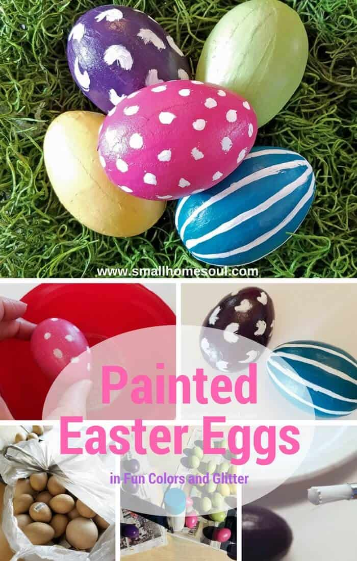 Compilation of cute and easy painted Easter eggs to use for all your Easter decorating projects.