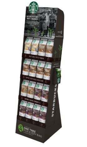 My favorite coffee company one tree one bag display.