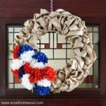 July 4th Wreath - Patriotic Update to a Burlap Bubble Wreath