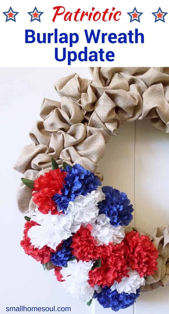 July 4th Wreath updates for festive decor on your porch.