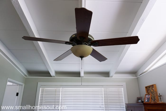Save energy on cooling by using ceiling fans before a/c.